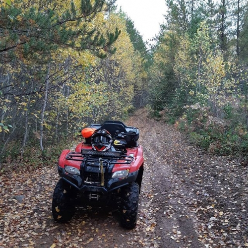 Nothing better then 4 wheeling in the fall #420 #NB #HONDA