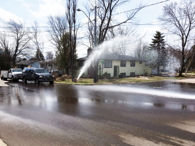water main flushing