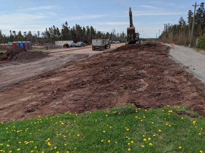 Construction work on Gunningsville Boulevard